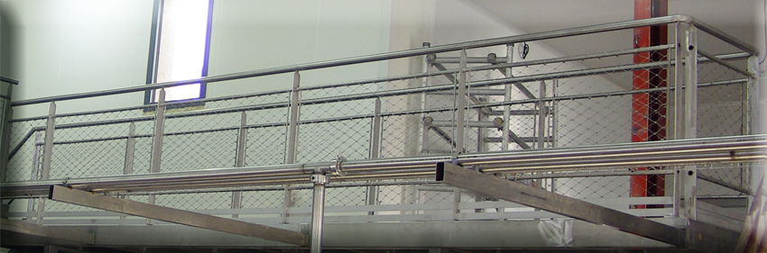 Exemple de remplissage en filet pour structure en tube - Inox FIPS
