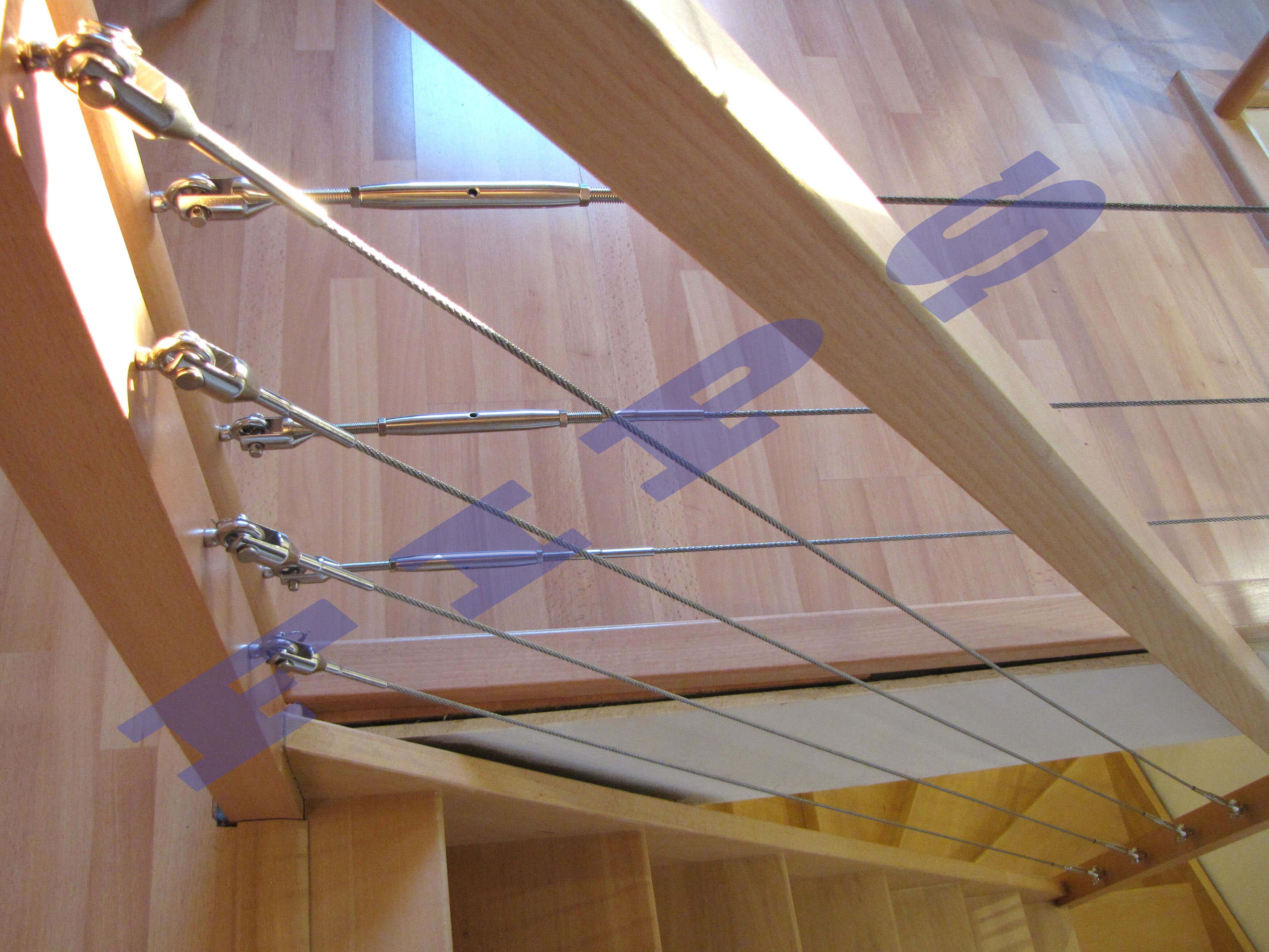 Autres réalisations remplissage en câble structure bois - Inox FIPS